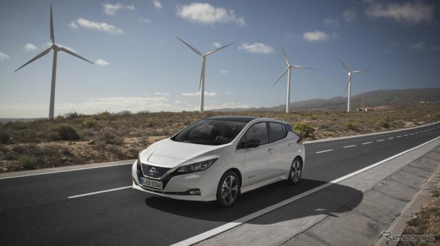 電気自動車の例:日産リーフ《写真提供 日産自動車》