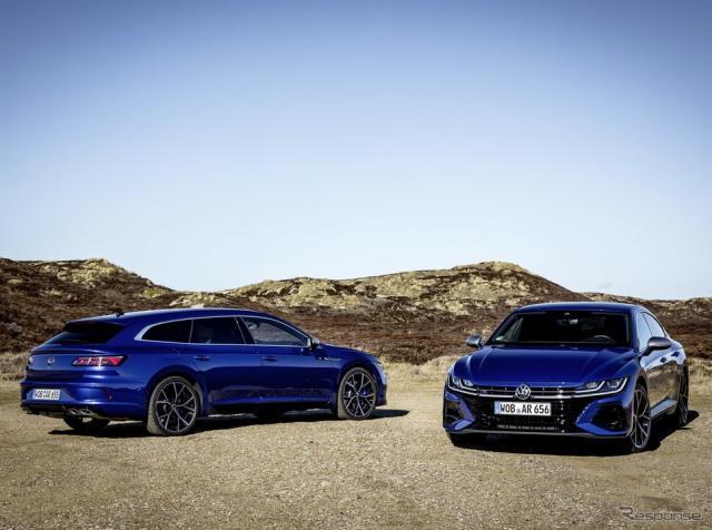 フォルクスワーゲン・アルテオン・シューティングブレーク R と アルテオン R《photo by VW》