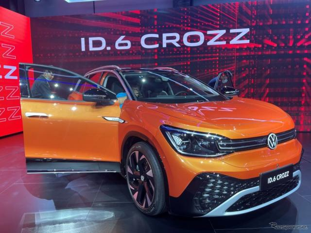VW ID.6 CROZZ(上海モーターショー2021)《Photo by Andreas Landwehr/picture alliance via Getty Images/ゲッティイメージズ》