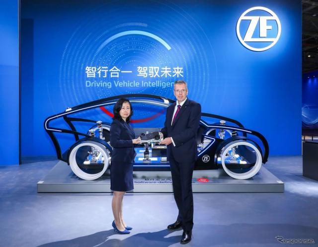 ZFのプレスカンファレンス(上海モーターショー2021)《photo by ZF》