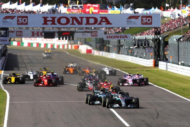 2018年F1日本GPの模様(鈴鹿)。《写真提供》MOBILITYLAND
