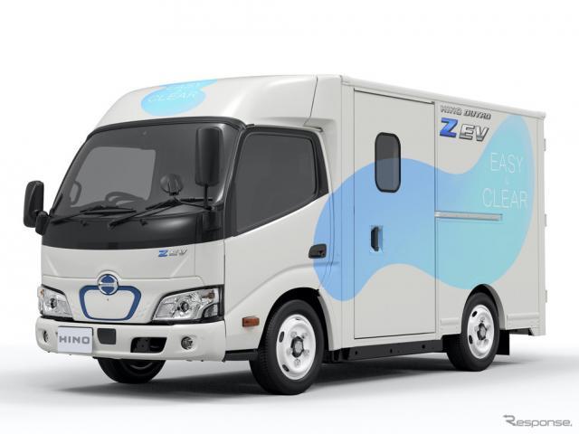 日野が市場導入予定の電動トラック、デュトロZ EV《画像提供 日野自動車》