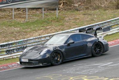 ポルシェ 911 GT3 RS が60ps超のパワーアップ!? ニュルで最終テスト