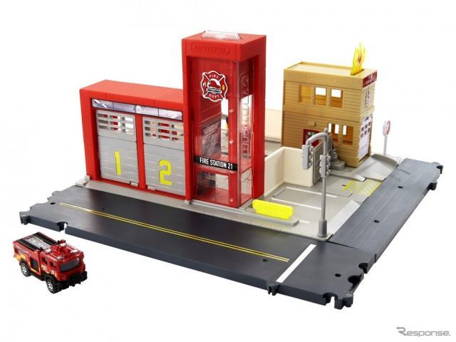 「マッチボックス」の消防署セットがついに日本発売---サイレンが鳴る! リアル!《写真提供 マテル・インターナショナル株式会社》