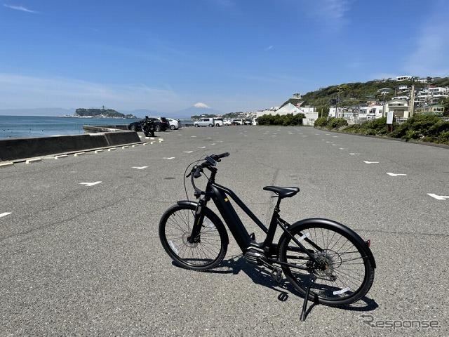 湘南エリアでeバイク「クロード」をのシェアサイクルサービス(イメージ)《写真提供 江ノ島電鉄》