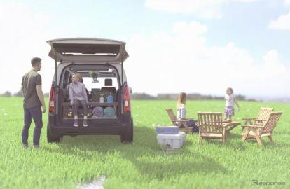 シトロエン ベルランゴ を車中泊仕様に、1分で設置可能な純正ベッド発売