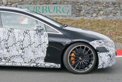 メルセデス最高級EVサルーン『EQS』、AMGモデルはどうなる? プロト車両を激写