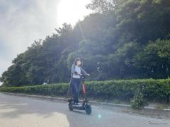 電動キックスクーターの公道シェアリングサービス…ヘルメット着用任意 千葉市