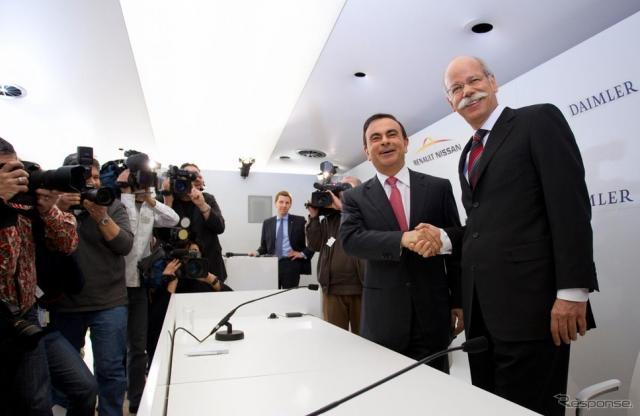 2010年、ルノー・日産アライアンスとダイムラーが戦略的提携《写真提供 日産自動車》
