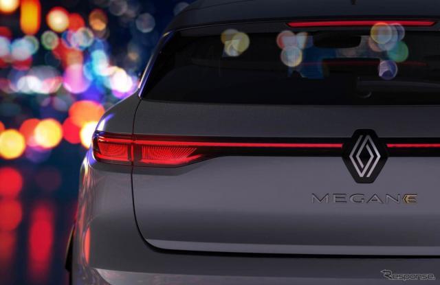 次世代ルノー・メガーヌ のフルEV「E-TECHエレクトリック」のティザーイメージ《photo by Renault》