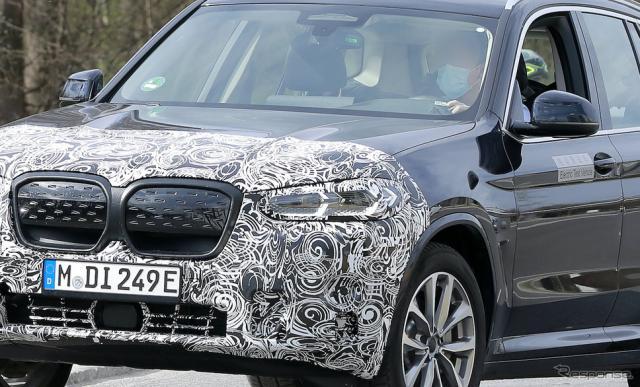 BMW iX3 改良新型 プロトタイプ スクープ写真《APOLLO NEWS SERVICE》