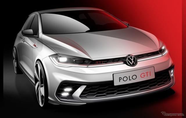 フォルクスワーゲン・ポロ GTI 改良新型のティザースケッチ《photo by VW》