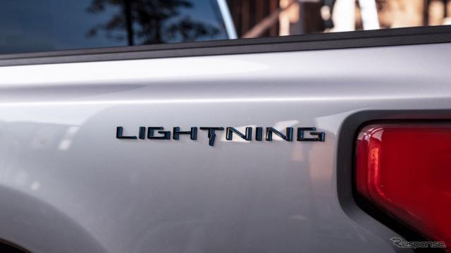フォード F-150 ライトニング のティザーイメージ《photo by Ford Motor》