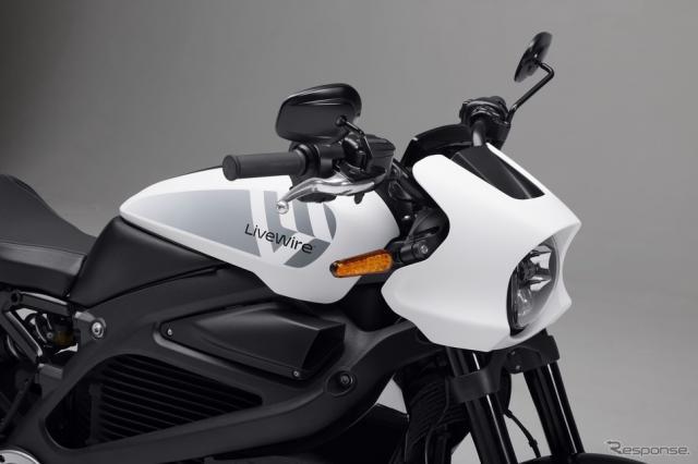 ハーレーダビッドソンのフル電動二輪車ブランド「ライブワイヤー」のロゴ《photo by Harley-Davidson》