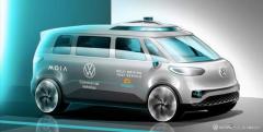 VW、自動運転EVの実証実験へ…電気ミニバン『ID. BUZZ』ベース