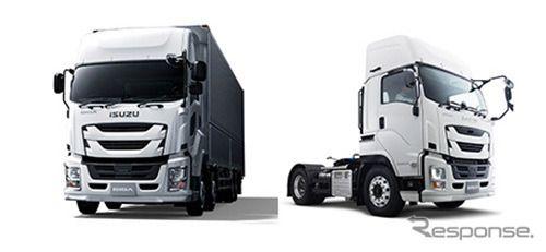 いすゞ ギガ、国内トラック初のドライバー異常時対応システムを採用