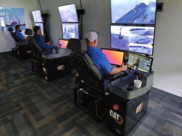 建機の遠隔操作「Catコマンドステーション」…複数のマシンを切り替え可能