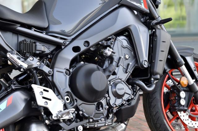 ヤマハ MT-09 新型の3気筒エンジン(写真は欧州仕様)《写真撮影 雪岡直樹》