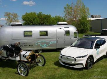フォード マスタングEV、米大陸横断チャレンジ開始…112年前の「モデルT」の挑戦をふたたび