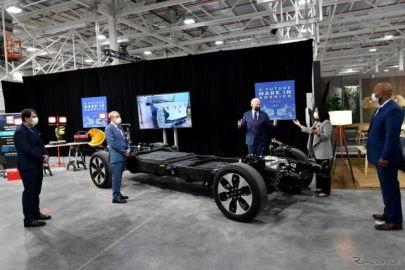 「自動車産業の未来は電気だ」…バイデン米大統領、フォード工場視察で新型EVに試乗[新聞ウォッチ]