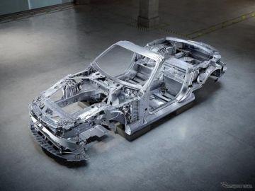 メルセデスAMG SL 開発中、ホワイトボディの写真…単体重量は約270kg