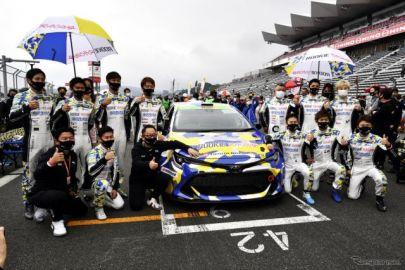 水素カローラ、30年先のために24時間レース参戦…スーパー耐久 第3戦で豊田社長