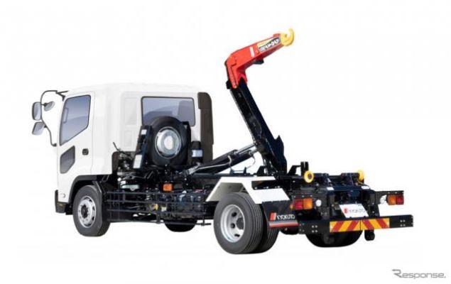 極東開発、新型7トン脱着ボデー車「ハイパースイング フックロール」発売へ