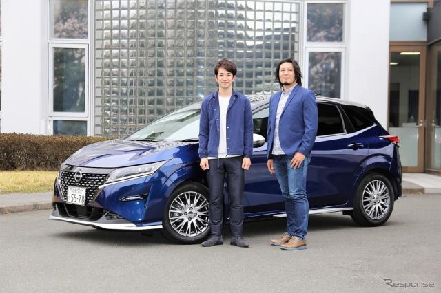 オーテックジャパン デザイン部の若林康二さん(左)、青山雄未さん(右)《写真撮影  内田俊一》