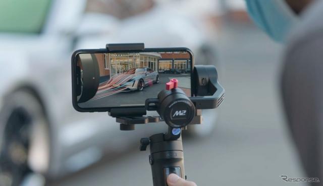 ポルシェが開発した「タイカンARイベントアプリ」のイメージ《photo by Porsche》