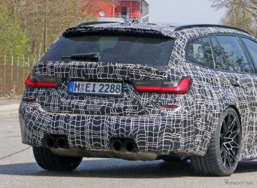 BMW M3ツーリング がミュンヘン市街地に出現…高出力モデル「コンペティション」も?