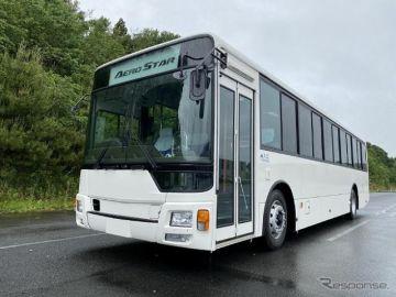 三菱ふそう、大型送迎バス『エアロスター』に前扉仕様車を追加