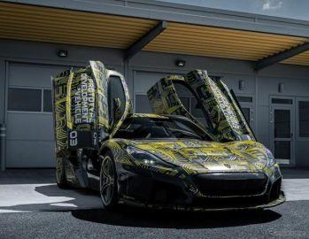 リマックのEVハイパーカー、6月1日発表予定…車名は『C_Two』から変更へ