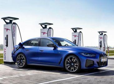 BMWのEV初の「M」、i4 に設定…加速はM4クーペ新型に匹敵