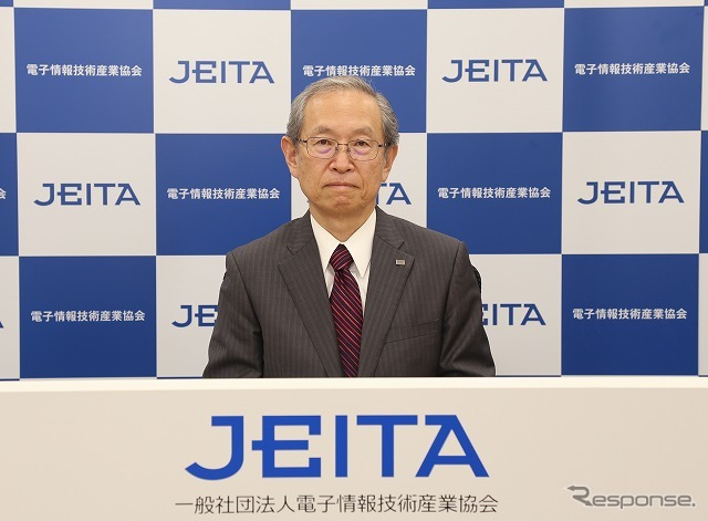 JEITA会長に就任した綱川氏《画像提供 JEITA》