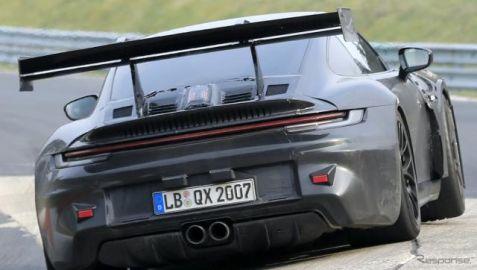 F1技術のリアウィング装備!? ポルシェ 911GT3 RS 新型に謎の充電口も