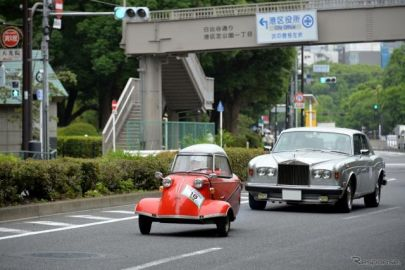 東京都心を40台の名車、旧車が走る…THE銀座RUNエシカルミーティング2021春