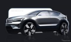 ボルボ初のEV専用SUVクーペ、『C40』…内外装デザインの特長を発表