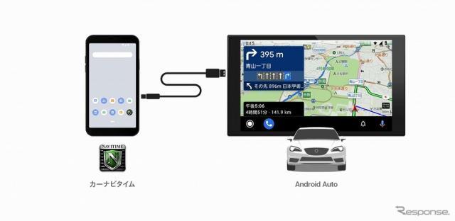 カーナビタイムがAndroid  Autoに対応《写真提供 ナビタイムジャパン》