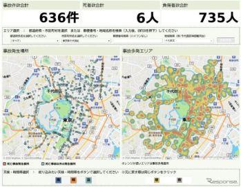 三井住友海上火災保険、「交通事故マップ」を公開…警察庁の事故統計データを活用