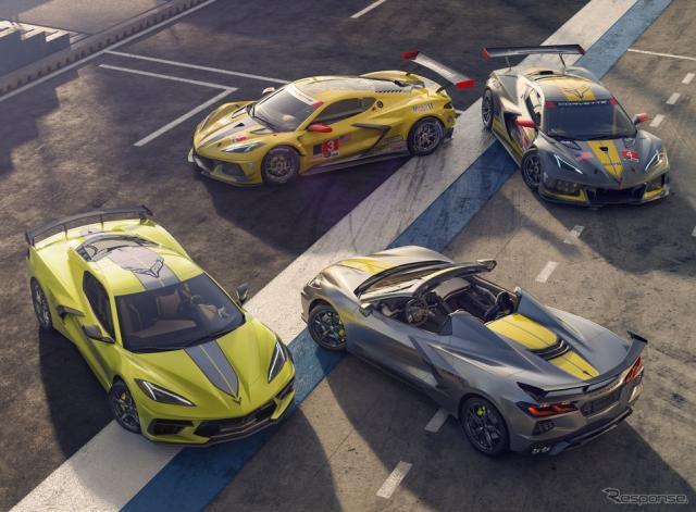 シボレー・コルベット の2022年モデル「IMSA GTLMチャンピオンシップエディション」(下)《photo by Chevrolet》