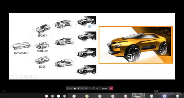 三菱自動車現役デザイナーによる、コンセプト立案からスケッチ展開のオンライン講義《写真提供 三菱自動車》