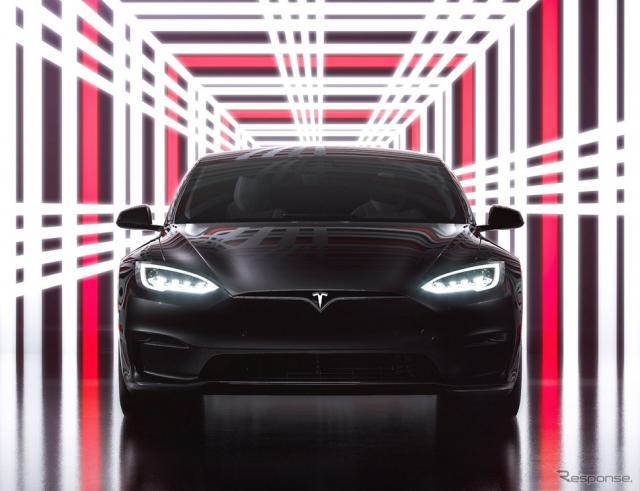 テスラ・モデルS改良新型の「プラッド」《photo by Tesla》