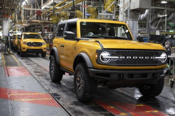 フォード ブロンコ、24年ぶりに復活…新型 生産開始