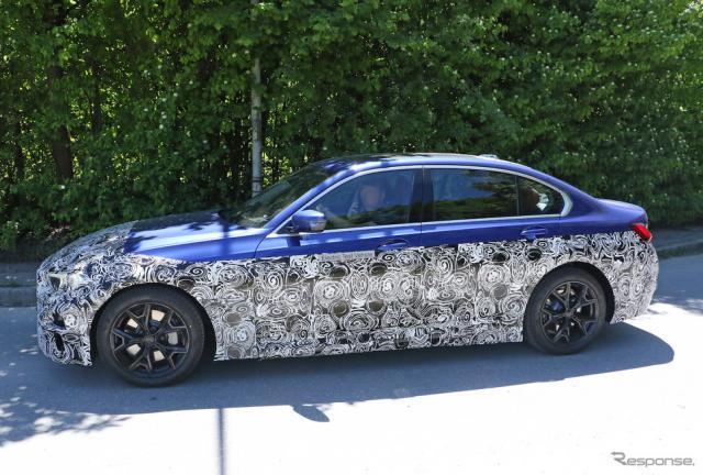 BMW 3シリーズ EV プロトタイプ(スクープ写真)《APOLLO NEWS SERVICE》