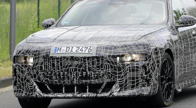 BMW 7シリーズ 次期型は「クセが強め」? フロントマスクが初露出