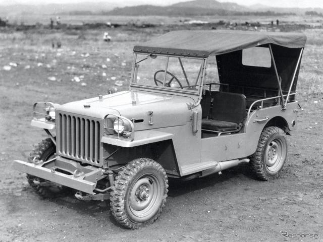 1951年:トヨタ・ジープBJ型警察予備隊向け(ヘビーデューティ)《写真提供 トヨタ自動車》