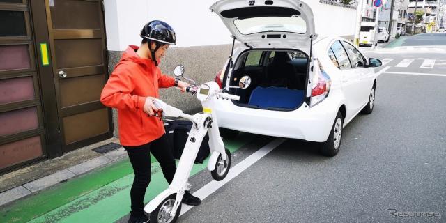 車載型EVバイク《写真提供 LOMA》