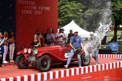 ミッレミリア2021フィニッシュ…アルファロメオが優勝、全50台完走