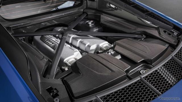 アウディ R8 の5.2リットルV型10気筒ガソリン自然吸気エンジン《photo by Audi》