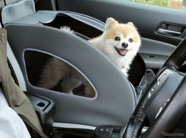 ホンダの愛犬用カーアクセサリー改良新製品…ソフトケージをサイズアップ、新アイテム追加